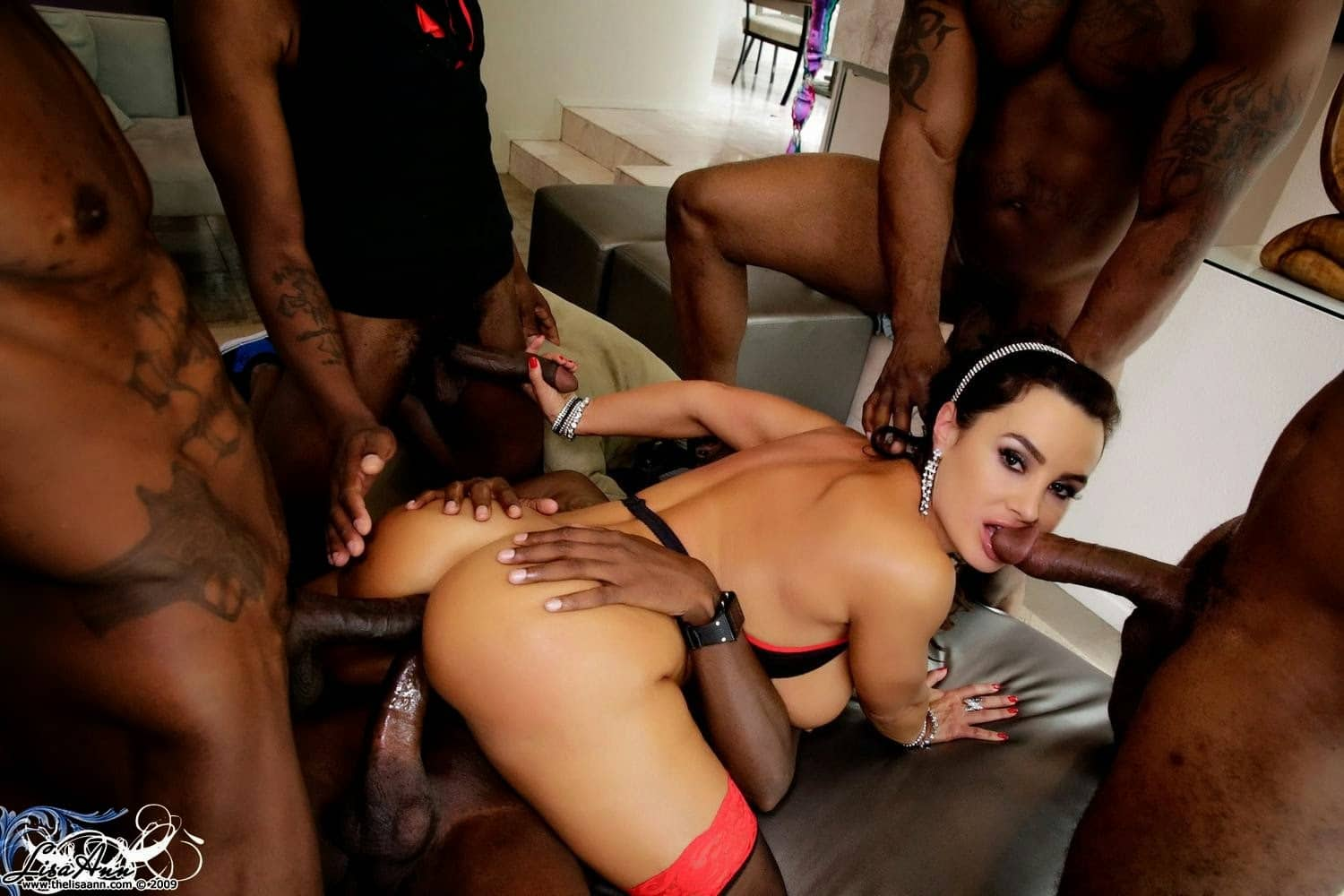 lisa ann gang bang interracial