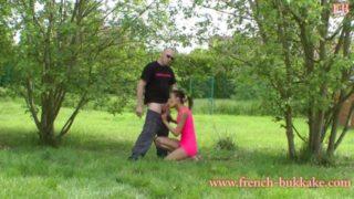 eva tiger en tournage pour french bukkake